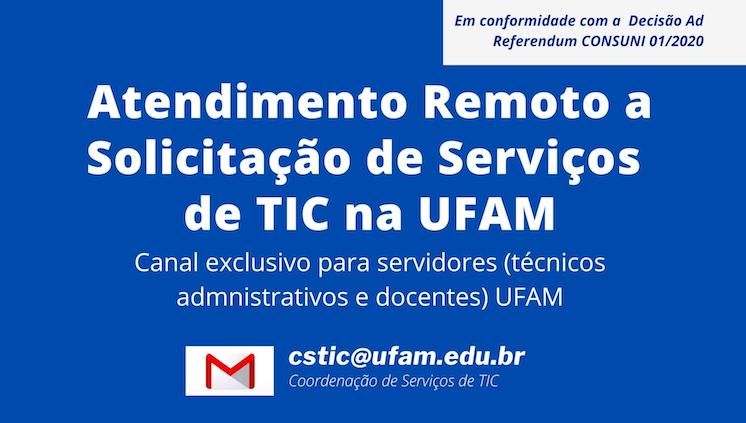 Canal de atendimento de serviços de TIC disponível